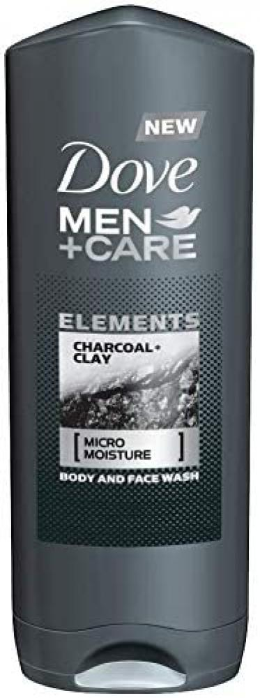 Dove MenPlusCare Body Wash Charcoal and Clay 400ml