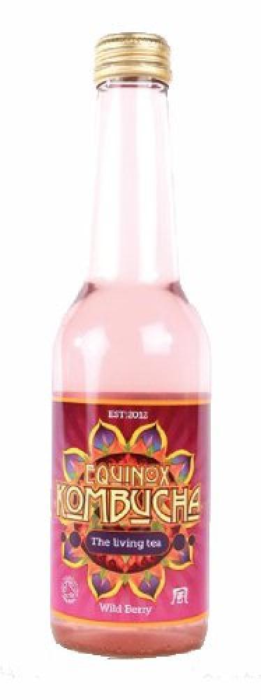 Equinox Kombucha Organic Wild Berry Fizzy Drink 275ml