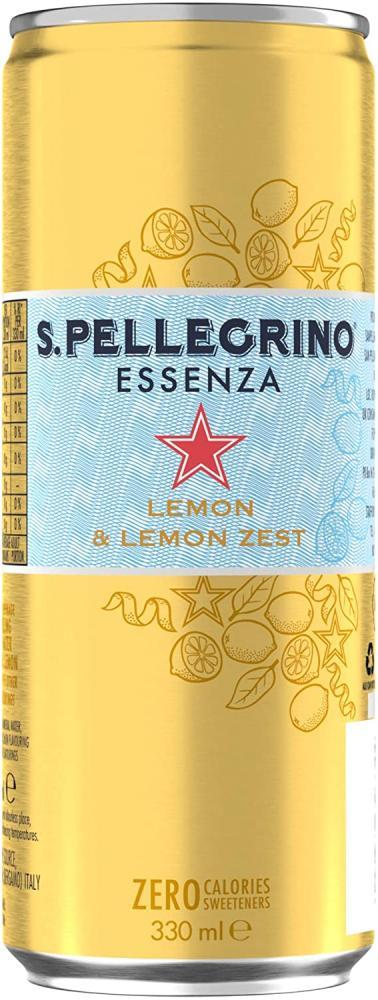 San Pellegrino Essenza Sparkling Lemon Water Can 330 ml