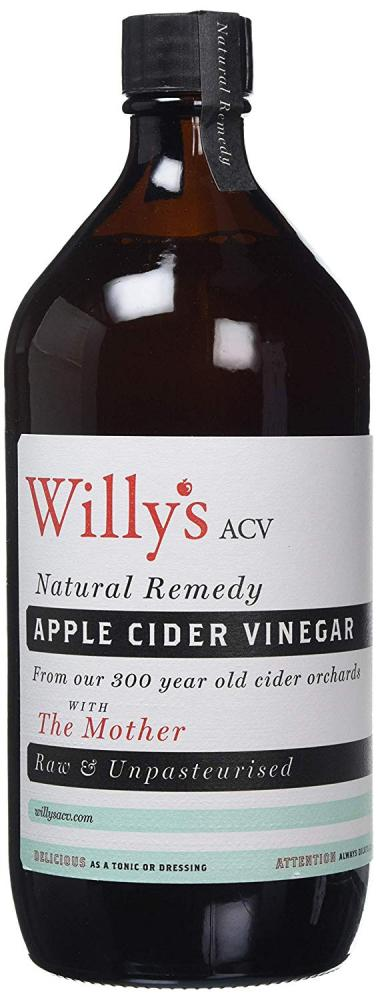 Willys Apple Cider Vinegar with The Mother Glass Bottle 1 Litre