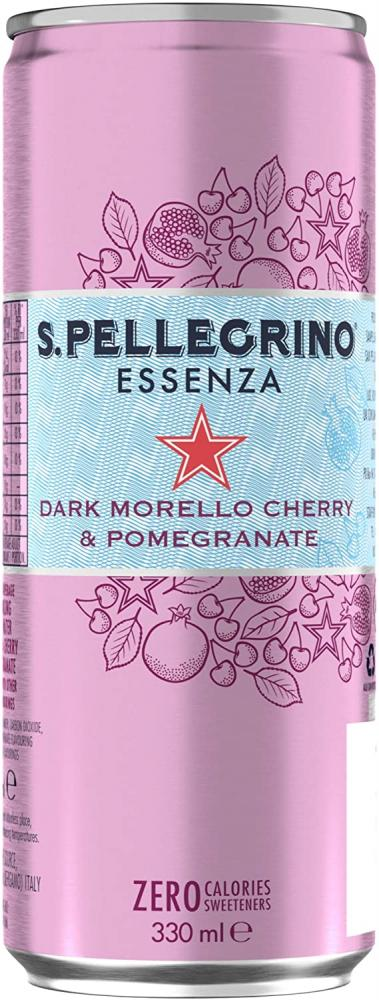 San Pellegrino Essenza Sparkling Cherry Pomegranate Water Can 330ml