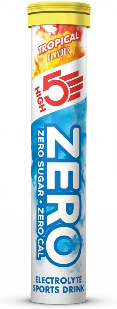 High 5 Sports Nutrition ZERO Electrolyte Hydration Tablets Added Vitamin C Tropical Flavour 20 tablets