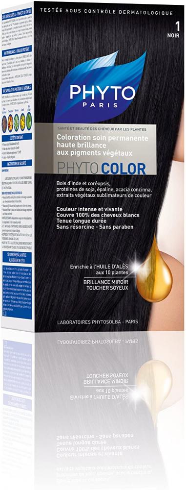 Phyto Permanent Color-Treatment Shade 1 Black