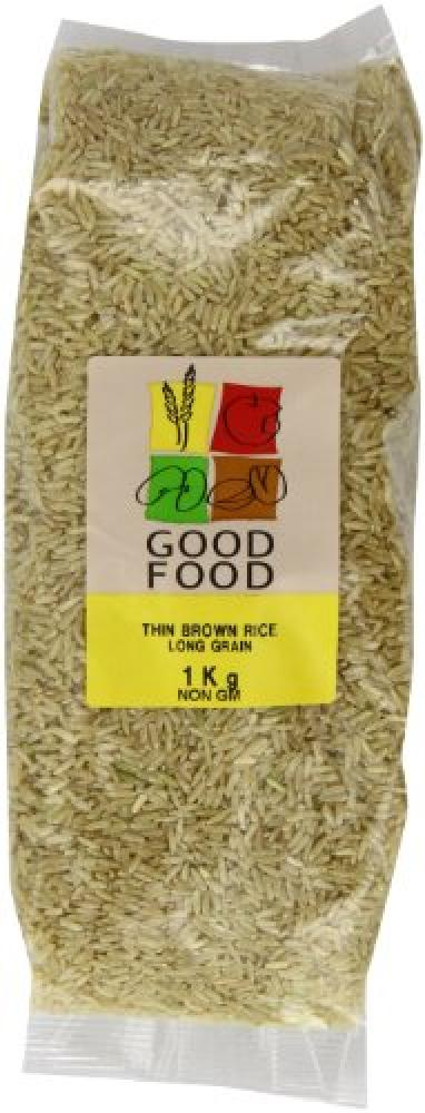 Mintons Good Food Pre-Packed Long Thin Brown Health Rice 1 Kg