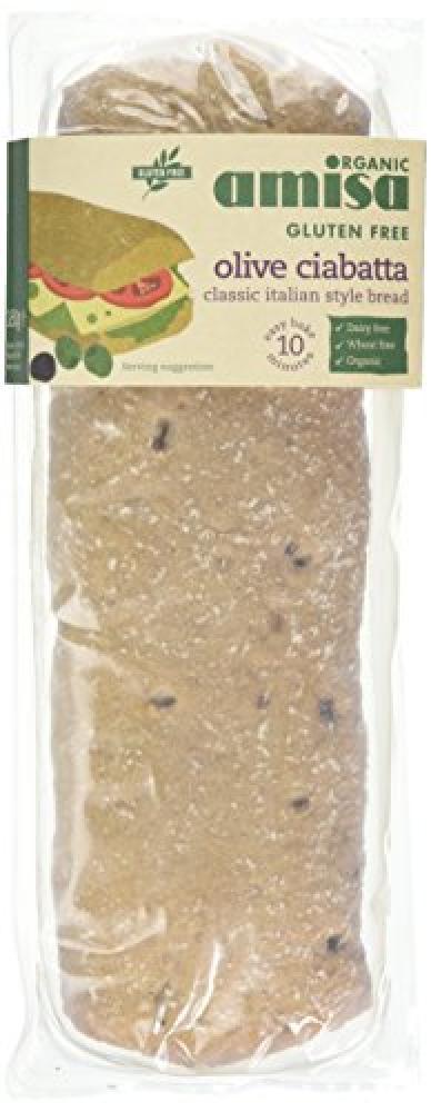 Amisa Gluten Free Olive Ciabatta 180g