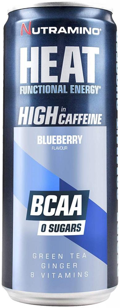 Nutramino Heat BCAA Supplement Blueberry 330ml