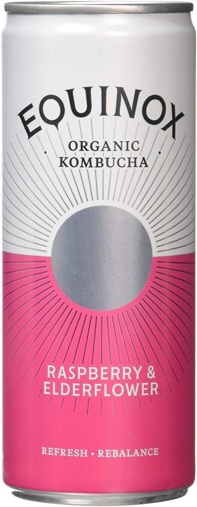 Equinox Kombucha Raspberry And Elderflower Can 250 ml