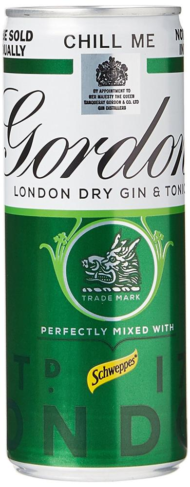 Gordons Gin and Tonic Mixed with Schweppes 250 ml