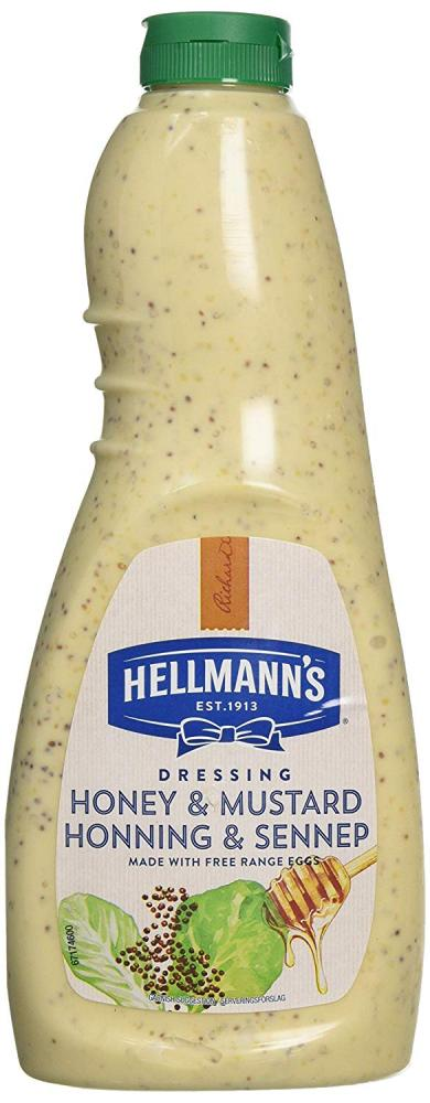 Hellmanns Honey and Mustard Salad Dressing 1L Damaged Box