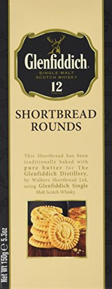 Walkers Shortbread Glenfiddich Whisky Shortbread Rounds Carton 150 g