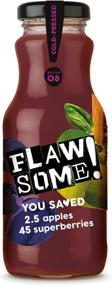 Flawsome Pressed Apple and Superberry Juice 250ml