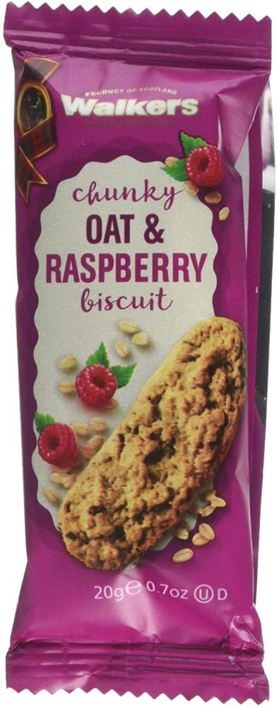 Walkers Shortbread Single Oat And Raspberry Biscuit 20g