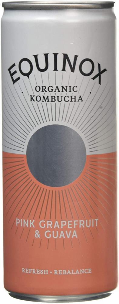 Equinox Kombucha Organic Kombucha Pink Grapefruit and Guava 250ml