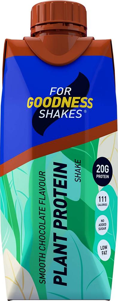For Goodness Shakes Plant Protein Shake - Smooth Chocolate 330ml