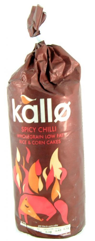 Kallo Spicy Chilli Wholegrain Low Fat Rice And Corn Cakes 124g