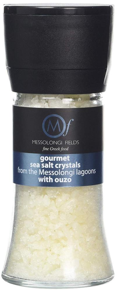 Messolongi Fields Gourmet Sea Salt Crystals with Ouzo 95g