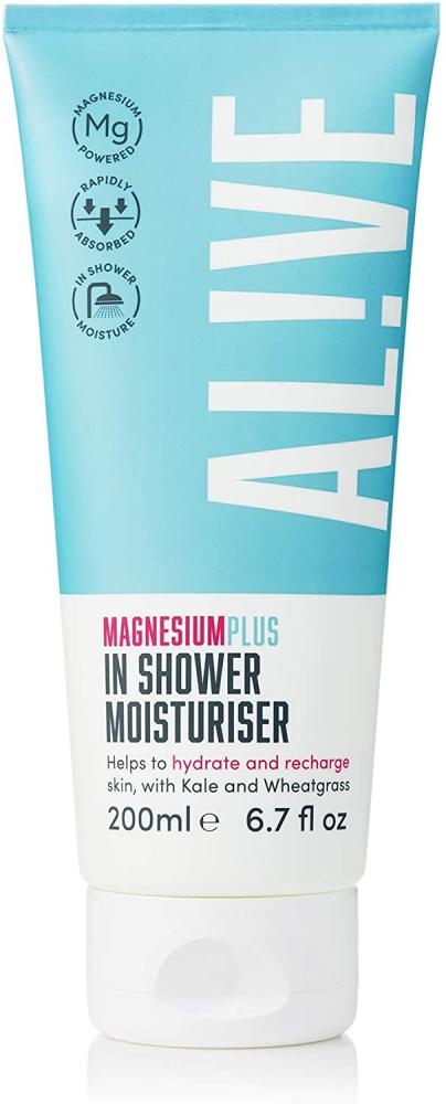 Alive Magnesium Plus In-Shower Moisturiser for Men And Women 200ml