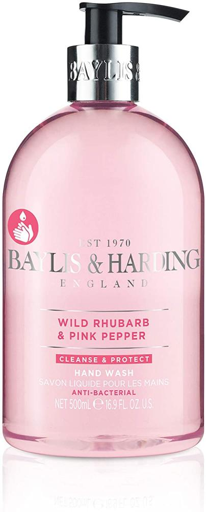 Baylis and Harding Wild Rhubarb And Pink Pepper Anti-Bacterial Hand Wash 500 ml