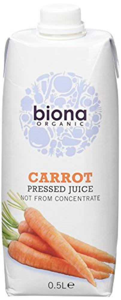 Biona Carrot Pressed Juice Not From Concentrate 500ml