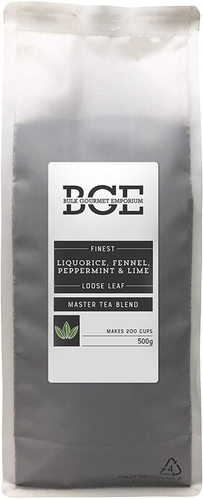 Bulk Gourmet Emporium Finest Liquorice Fennel Peppermint and Lime Loose Leaf Tea 500 g