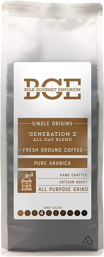 Bulk Gourmet Emporium Generation Z Arabica Fresh All Purpose Grind Coffee 1kg