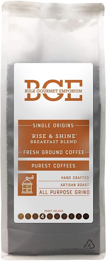 Bulk Gourmet Emporium Single Origin Rise and Shine Breakfast Blend All Purpose Fresh Ground Coffee 1kg