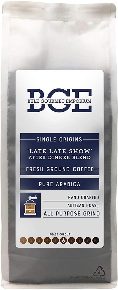 Bulk Gourmet Emporium Single OriginLate Late Show After Dinner Blend All Purpose Pure Arabica Fresh Ground Coffee 1kg