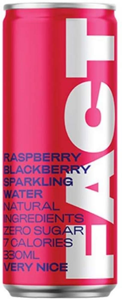 Fact Natural Raspberry and Blackberry Flavour Sparkling Water 330ml