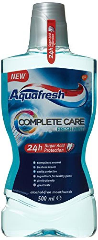 WEEKLY DEAL  Aquafresh Complete Care Fresh Mint Mouthwash 500ml