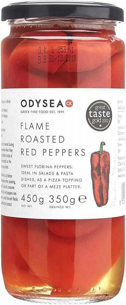 Odysea Roasted Red Peppers 450g