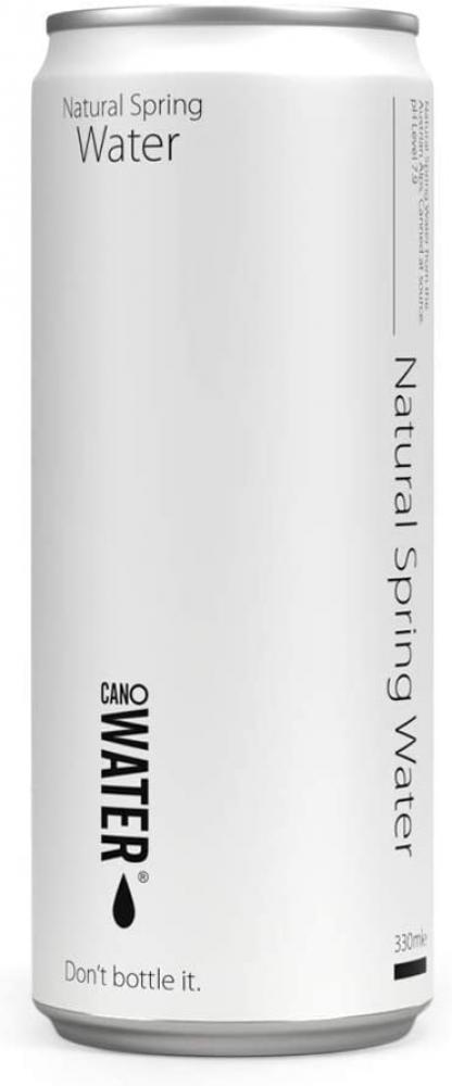 Canowater Natural Spring Water Resealable 330 ml