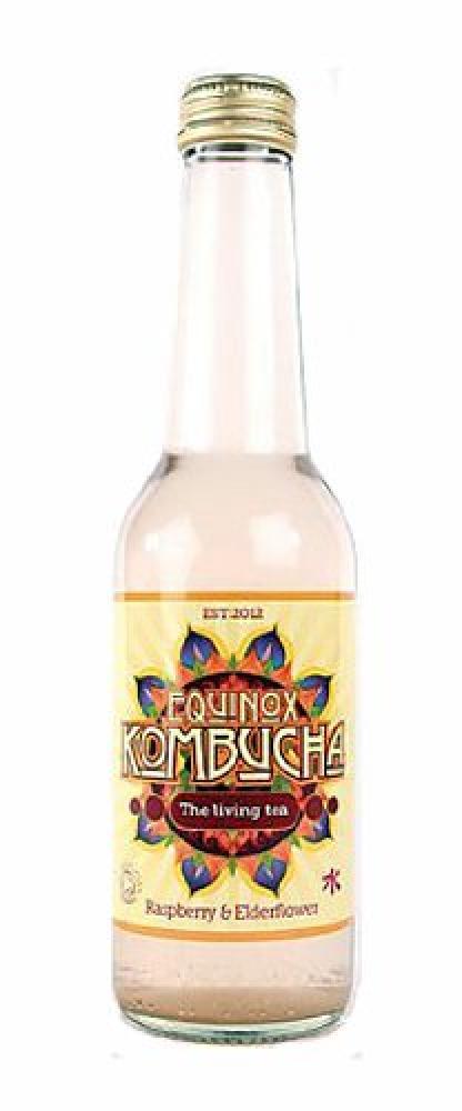 Equinox Kombucha Organic Raspberry and Elderflower Fizzy Drink 275 ml