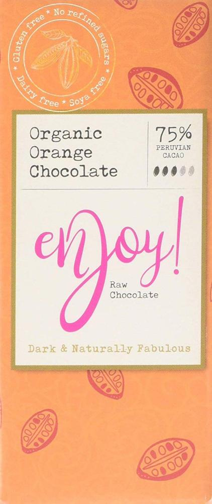 Enjoy Raw Chocolate Organic Orange Chocolate 40g