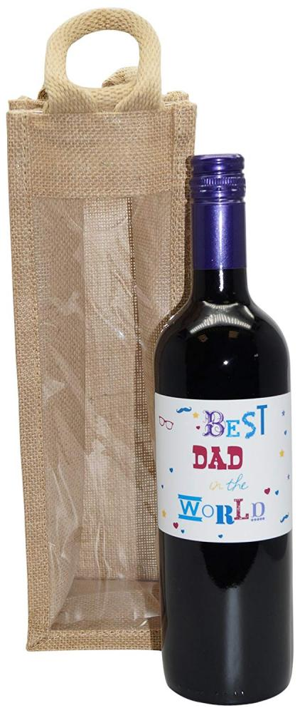 Ukgiftbox Best Dad in the World Red Wine Gift Set 75cl