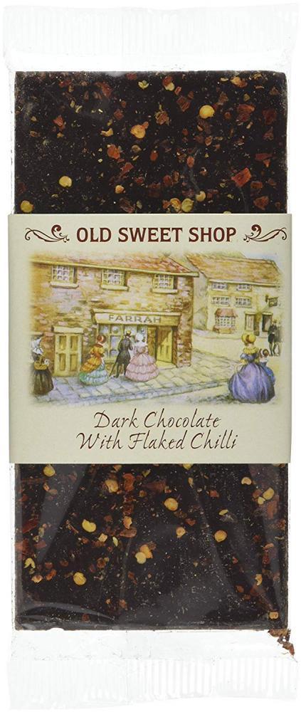 Farrahs Of Harrogate Dark Belgian Chocolate Bar with Flaked Chilli 100g
