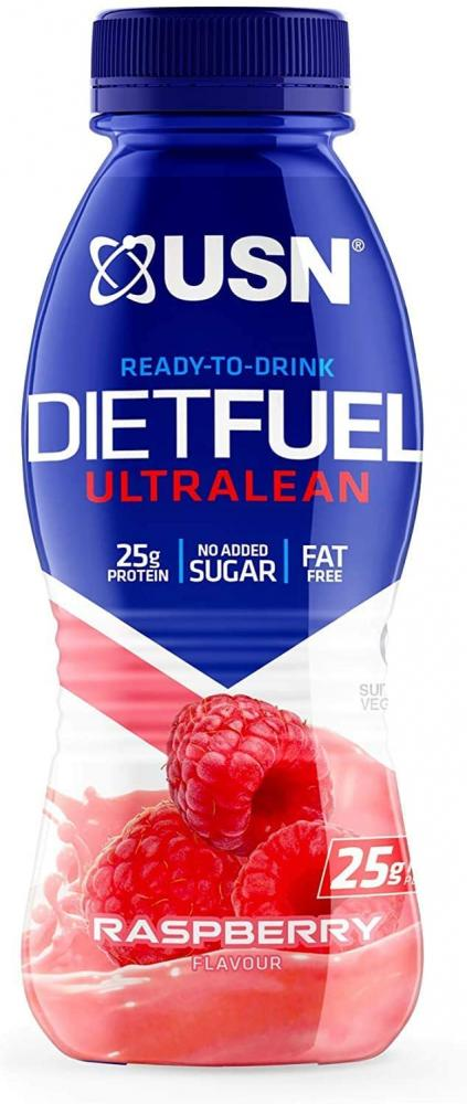 USN Diet Fuel Ready To Drink Protein Shake Raspberry 310ml