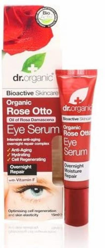 Dr Organic Bioactive Skincare Organic Rose Otto Eye Serum 15ml No box