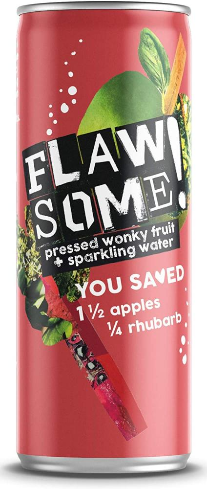 Flawsome Apple and Rhubarb Sparkling Juice Drink 250ml
