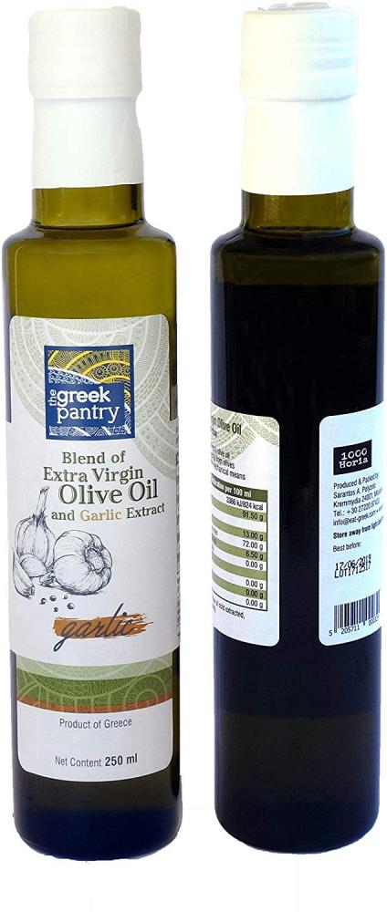 The Greek Pantry Blend of Extra Virgin Olive Oil With Garlic Extract 250ml