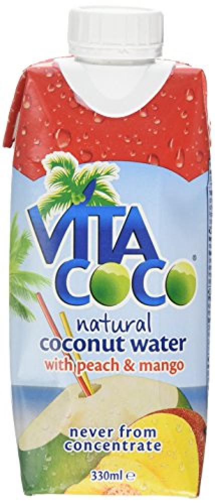 Vitacoco Coconut Water With Peach And Mango 330ml