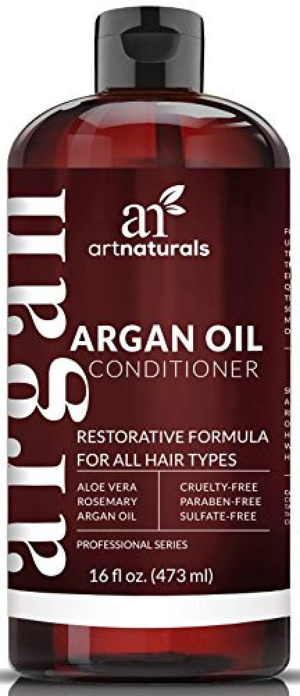FLASH DEAL  Art Naturals Argan Oil Hair Conditioner - 473 ml - Sulfate Free - Treatment for Damaged and Dry Hair - Made with Organic Ingredients and Keratin