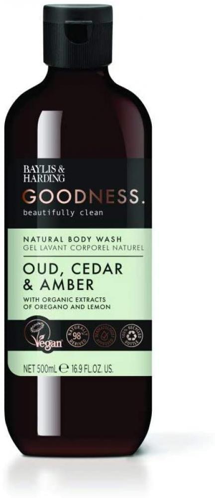 Baylis and Harding Goodness Oud Cedar and Amber Body Wash 500ml