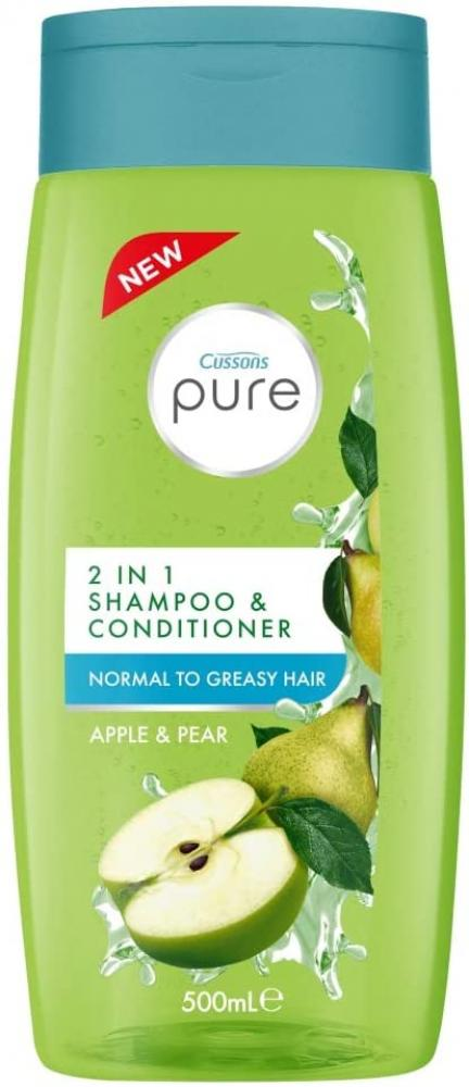 Cussons Pure Apple and Pear 2-in-1 Shampoo and Conditioner 500ml