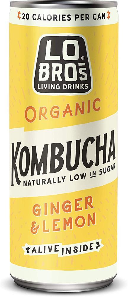 Lo Bros Organic Ginger And Lemon Kombucha 250 ml