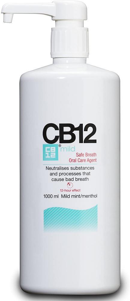 CB12 Mild Mint Menthol Mouthwash 1000 ml
