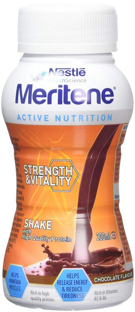 Nestle Meritene Strength and Vitality Chocolate Ready to Drink Shake 200 ml