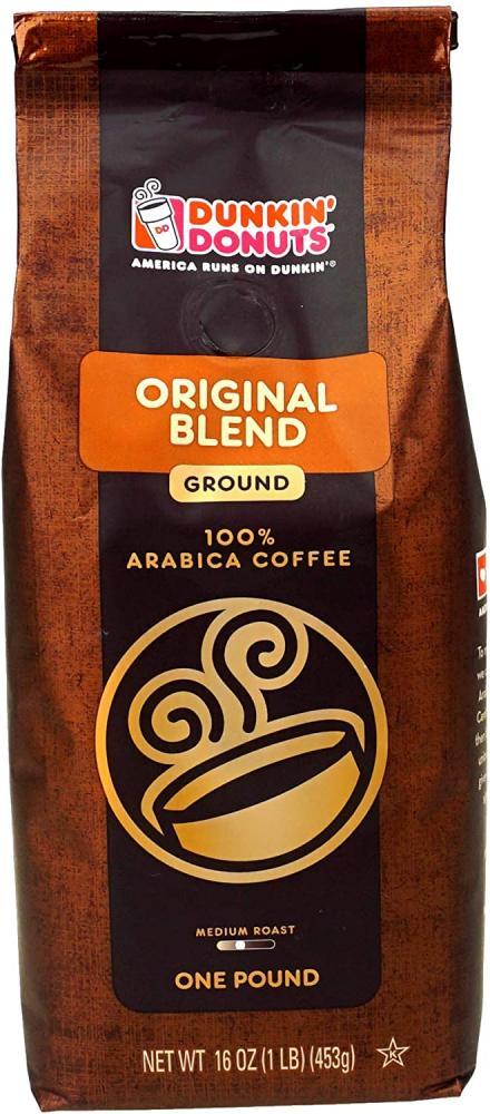 Dunkin Donuts Ground Coffee Medium Roast Original Blend 453g