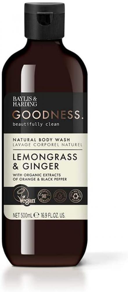 Baylis and Harding Goodness Lemongrass Ginger Body Wash 500ml