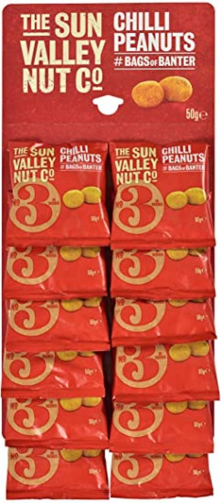 The Sun Valley Nut Co Chilli Peanuts 12 x 50g
