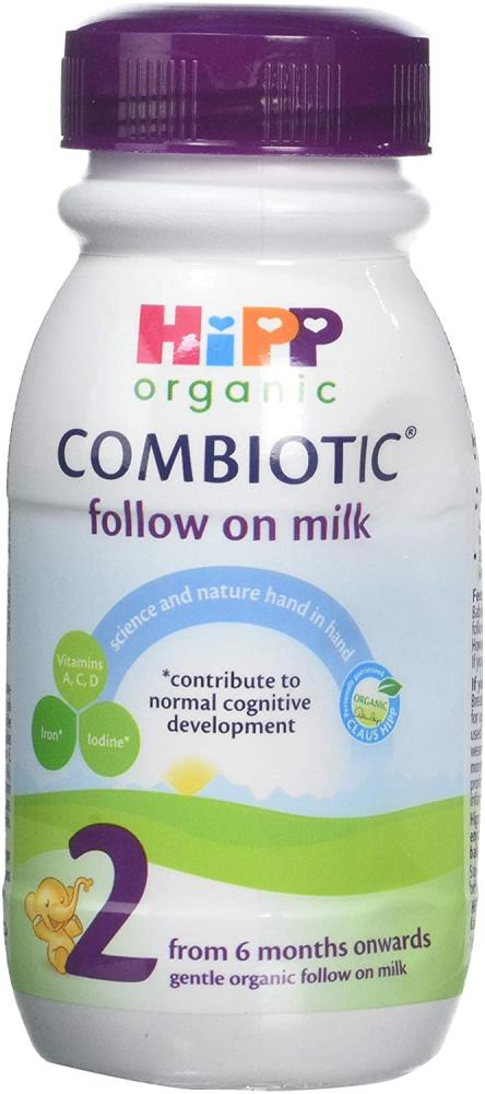 HiPP Organic 2 Follow on Baby Milk Ready to Feed Bottle from 6 Months 250ml